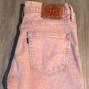 Salmon Light Washed Levi Strauss & Co Jeans